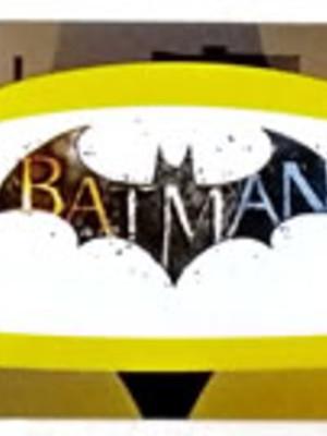 Adesivo Retangular Batman 18 x 4cm (10 unid.)