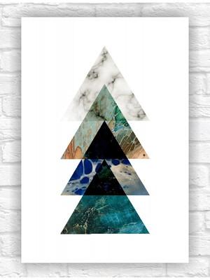 Poster Impresso Abstrato Geométrico Tamanho A4