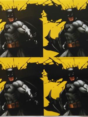 Adesivo Quadrado Batman 7x7cm (20 unid.)