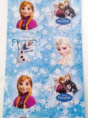 Adesivo Redondo Frozen 4cm (30 unid.)