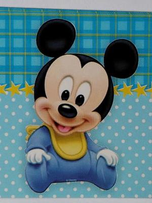 Adesivo Retangular Mickey Baby (08 unid.)