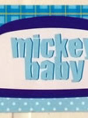 Adesivo Retangular Mickey Baby 18 x 4cm (10 unid.)