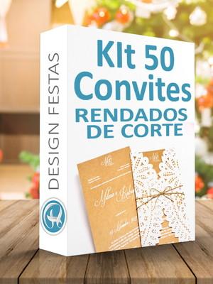 Kit Arquivos silhouette Convites de casamento rendados
