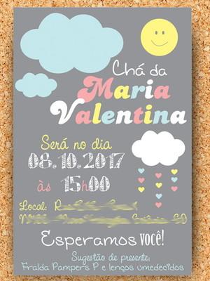 Convite Nuvem Chá Chuva de Amor Digital