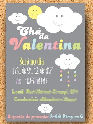 Convite Chá de Bebê Chuva (digital)