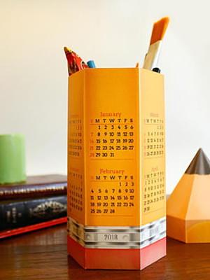 Arquivo silhouette Calendário de mesa porta canetas