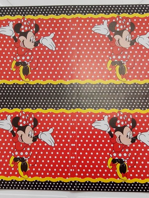 Adesivo Quadrado Minnie Vermelha 7x7cm (20 unid.)
