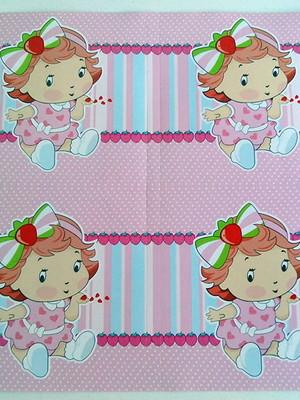 Adesivo Quadrado Moranguinho Baby 7x7cm (20 unid.)