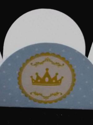 Forminha Realeza Coroa Azul (48 forminhas)