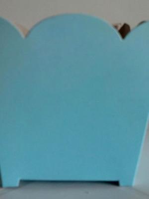 Cachepot Liso Azul Ceu(01 un)