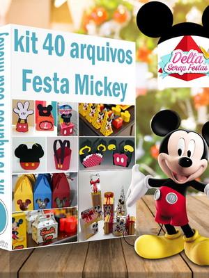 Kit arquivos silhouette Festa Mickey