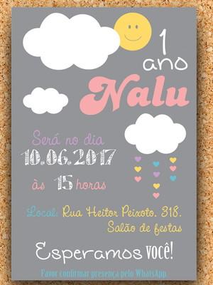 Convite Chuva de Amor (digital)