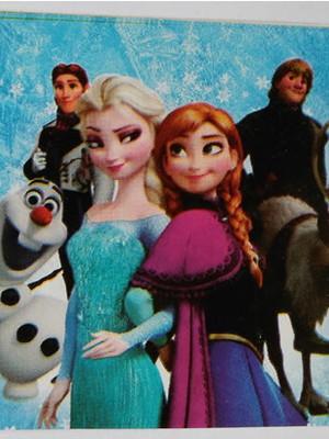 Adesivo Retangular Frozen (08 unid.)