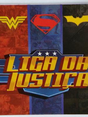 Adesivo Retangular Liga da Justiça (08 unid.)