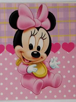 Adesivo Retangular Minnie Baby (08 unid.)