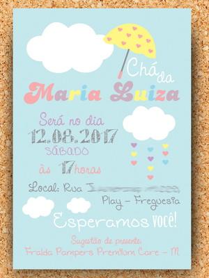 Convite Chá Chuva de Amor (digital)