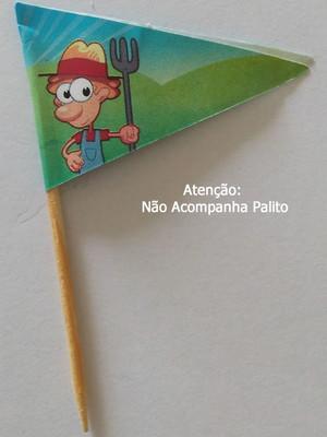 Topper Tag Bandeirinha Fazendinha (30 unid.)