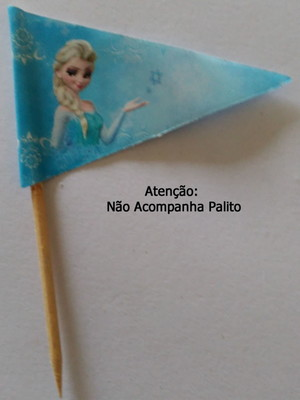 Topper Tag Bandeirinha Frozen (30 unid.)