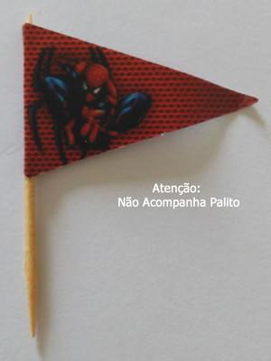 Topper Tag Bandeirinha Homem Aranha (30 unid.)