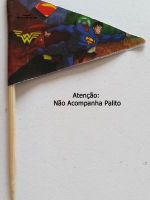 Topper Tag Bandeirinha Liga da Justiça (30 unid.)