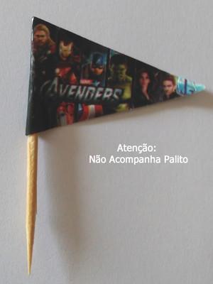 Topper Tag Bandeirinha Vingadores (30 unid.)
