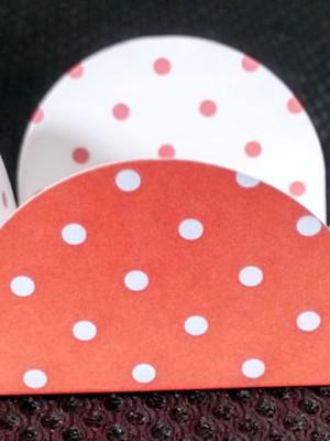 Forminha Poa Vermelho Branco (50 forminhas)