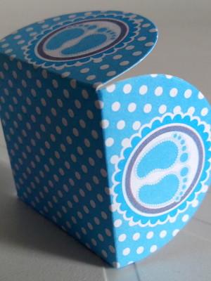 Forminha Pezinhos Azul (50 forminhas)