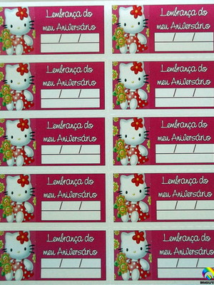 Tag Lembrancinha Hello Kity Baby (30 unid.)