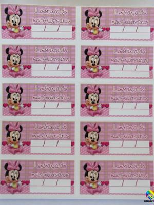 Tag Lembrancinha Minnie (30 unid.)