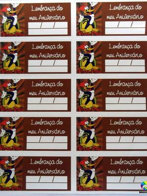 Tag Lembrancinha Pica Pau (30 unid.)