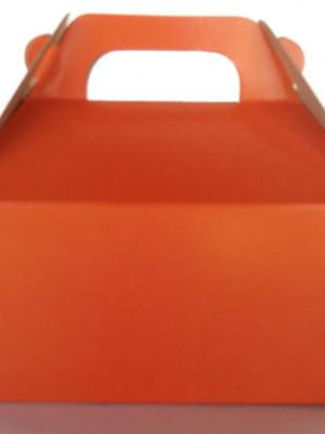Caixa Box Pequena Lisa Laranja (01 unid.)