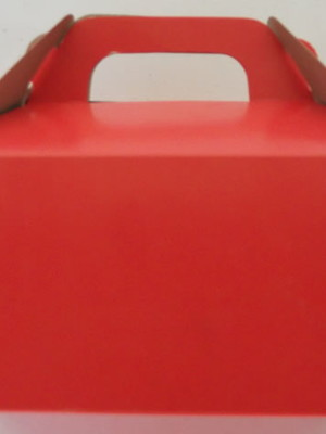 Caixa Box Pequena Lisa Vermelha (01 unid.)