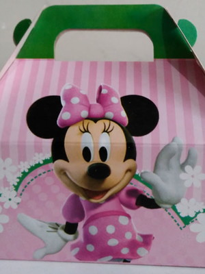 Caixa Box Pequena Minnie Rosa (01 unid.)