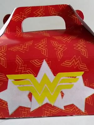 Caixa Box Pequena Mulher Maravilha (01 unid.)
