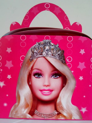 Caixa Maleta Barbie Rosa (01 unid.)