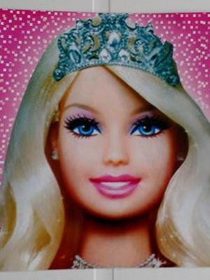 Tampa Marmitinha Barbie Rosa (10 unid.)
