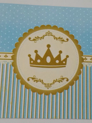 Tampa Marmitinha Realeza Coroa Azul (10 unid.)