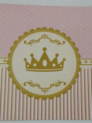 Tampa Marmitinha Realeza Coroa Rosa (10 unid.)