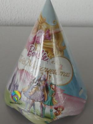 Chapéu Aniversario Barbie Mosqueteira (08 unid.)