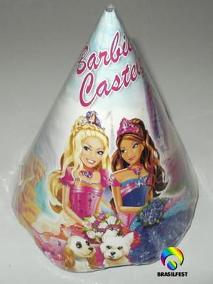 Chapéu Aniversario Barbie Castelo (08 unid.)