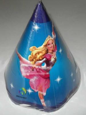 Chapéu Aniversario Barbie Princesa (08 unid.)