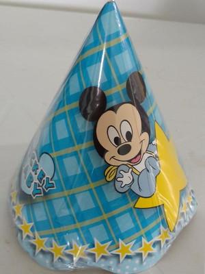 Chapéu Aniversario Mickey Baby Nova Arte (08 unid.)