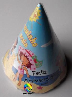 Chapéu Aniversario Moranguinho Praia (08 unid.)