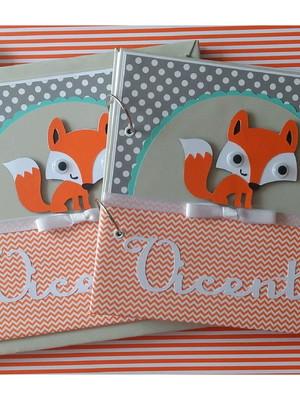 diário bebê menino mensagens fotos raposinha floresta scrap