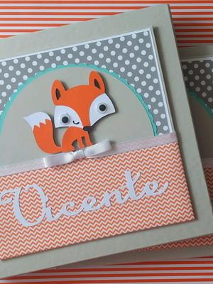 diário bebê e caixa menino personalizado raposinha floresta