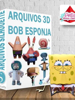 Arquivos silhouette Bob Esponja 3D