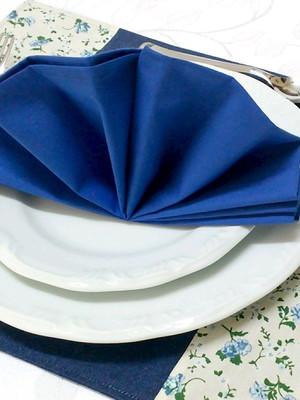 Guardanapo de Tecido Azul Royal 45 x 45 cm