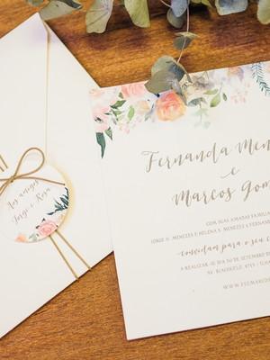 Convite Casamento Floral Delicado M2