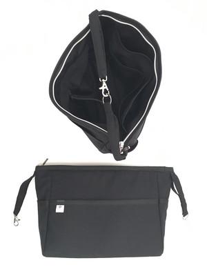 Refil organizador de bolsa com zíper e mosquetão 23x17x8cm *