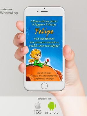 Convite para Whatsapp Festa Infantil- Pequeno Príncipe